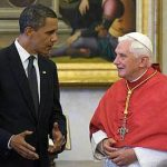 Obama and Pope Benedict