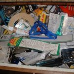 disorganized drawer