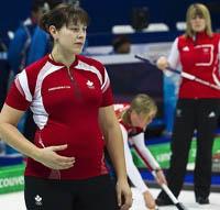 curling pregnant woman - thumbnail