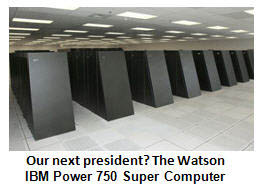 GOP eyes Watson the Computer as front-runner candidate for 2012 election