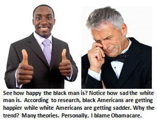 Study says a dark day in America – Blacks are getting happier