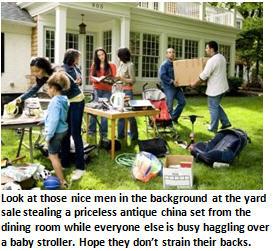yard sale - thieves
