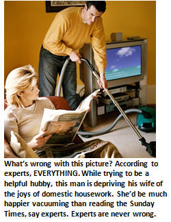 Researchers unlock the key to a happy marriage: Husbands, let your wives do the housework!