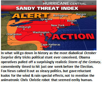 Millions mourn as Obama conspires with Storm of Century to steal election