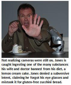 Jones banned substance - cake