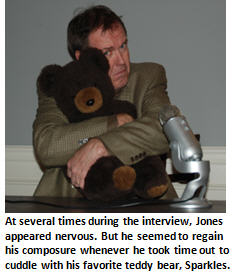 Jones banned substance - teddy bear