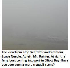 Seattle rain - Fog scene