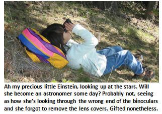 Worlds smartest person - binoculars