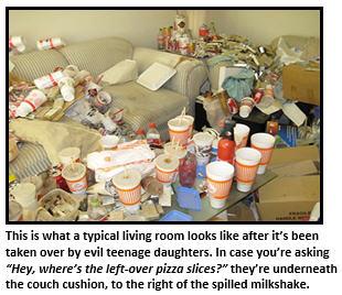 evil teenager - living room
