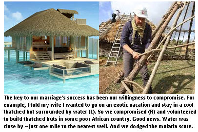 wedding vows - thatched huts