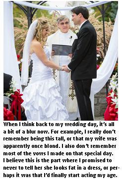 Wedding vows I don't remember making
