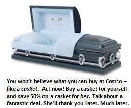 Costco - casket