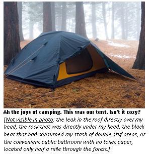 I am not a happy camper