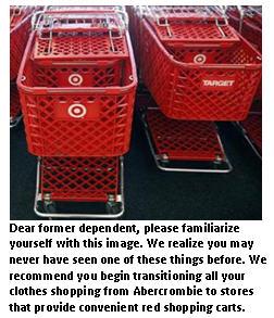 Family downsizing - shopping carts