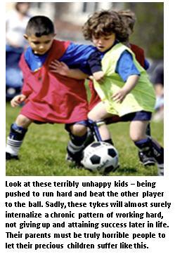 Winning - kids playing soccer