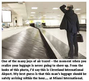Airline travel - baggage claim