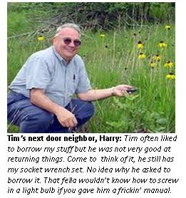 Tim funeral - neighbor