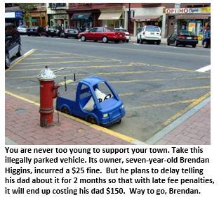 Become a criminal - parked car