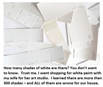50 shades of white - samples
