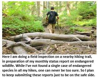 weekly report - retirement - hike