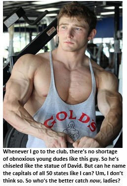 health club - buff guy