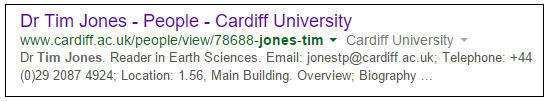 Google Tim - Cardiff U