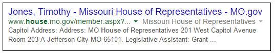 Google Tim - Missouri House