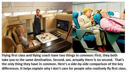 Flying Coach vs. First Class