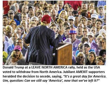 AMEXIT - Trump rally