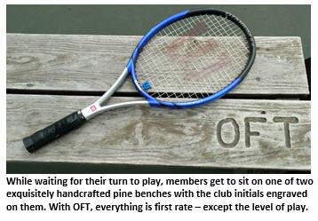old farts tennis club - bench