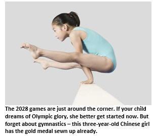 2028 Olympics - girl on balance beam