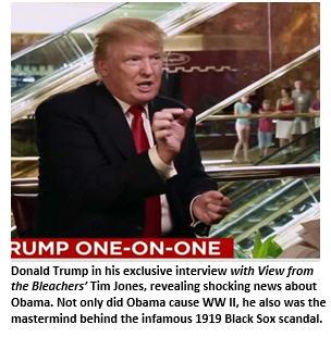 BREAKING NEWS: Obama Caused World War II, According to Trump