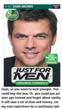 Fashion Tip for Middle-Aged Men: Hair to Dye For