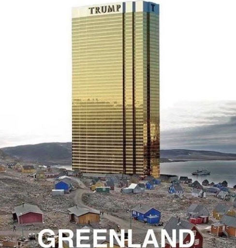 An artist's rendering of the first of five planned resort hotels to be built at Trump Greenland. Every effort will be made to ensure the resort blends in with the natural surroundings.
