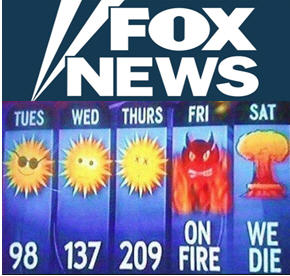 """""""Here's a look at the five-day forecast for Boston. They should've voted for me; They would have had the best weather. Those Bostonians are nasty people."""""""