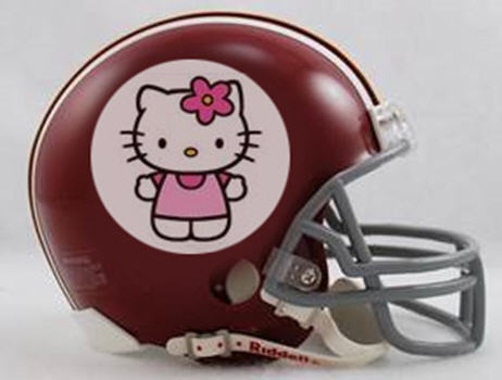 If my redskin potato graphic doesn't fly, here is my backup proposal. Who doesn't love Hello Kitty? I know my girls sure did – back when they were five. Go, Kitties! MEOW!! What a purrfect new logo, am I right?