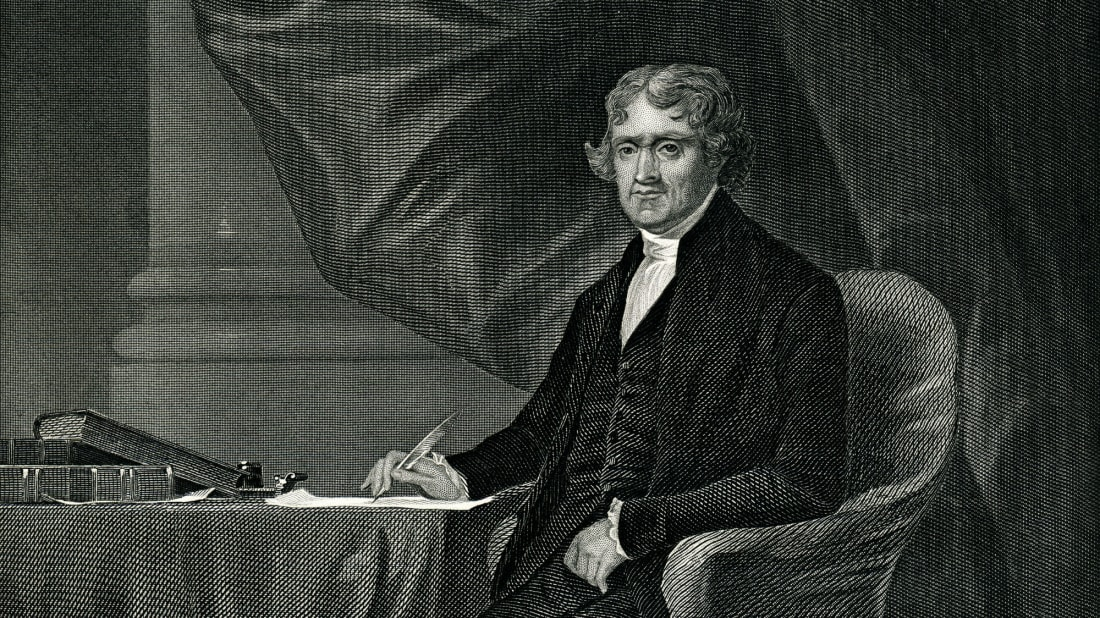 Thomas Jefferson, Author of the Declaration of Independence, third president of the United States, Founder of the University of Virginia, and, unfortunately, the father of a heretofore unknown son named Bradley who'd forever embarrass his dad.
