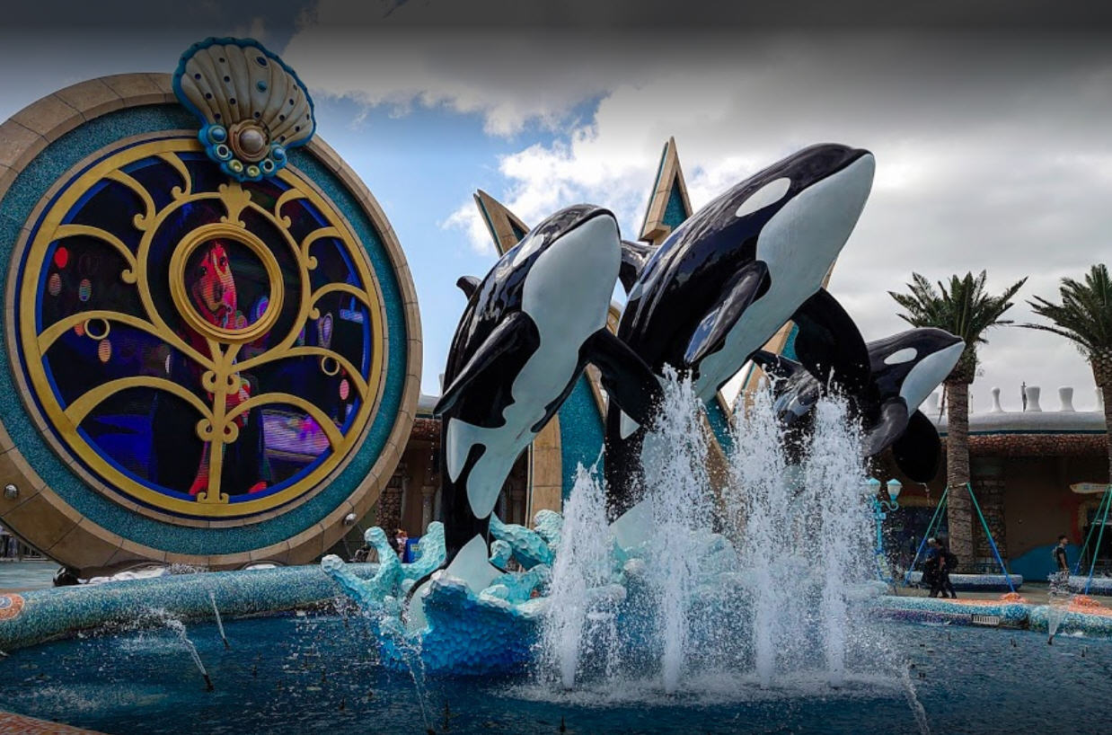 Visitors will thrill to the rides and shows at Orca World, where you will see our whales do things you never thought imaginable. [Park opening delayed indefinitely. Check back in summer 2031.]